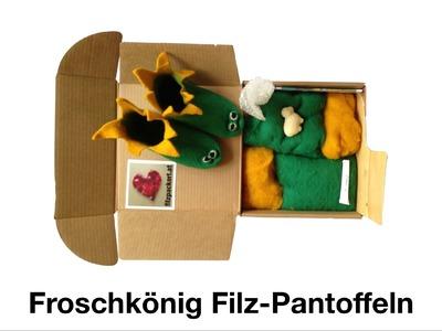 Filzen lernen - Bastelanleitung für Froschkönig Patschen aus Filzwolle (10)
