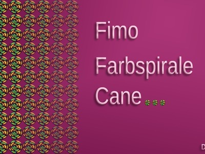 FIMO Cane Farbspirale: Polymer color spiral - Tutorial [HD.deutsch] (EN-Sub)
