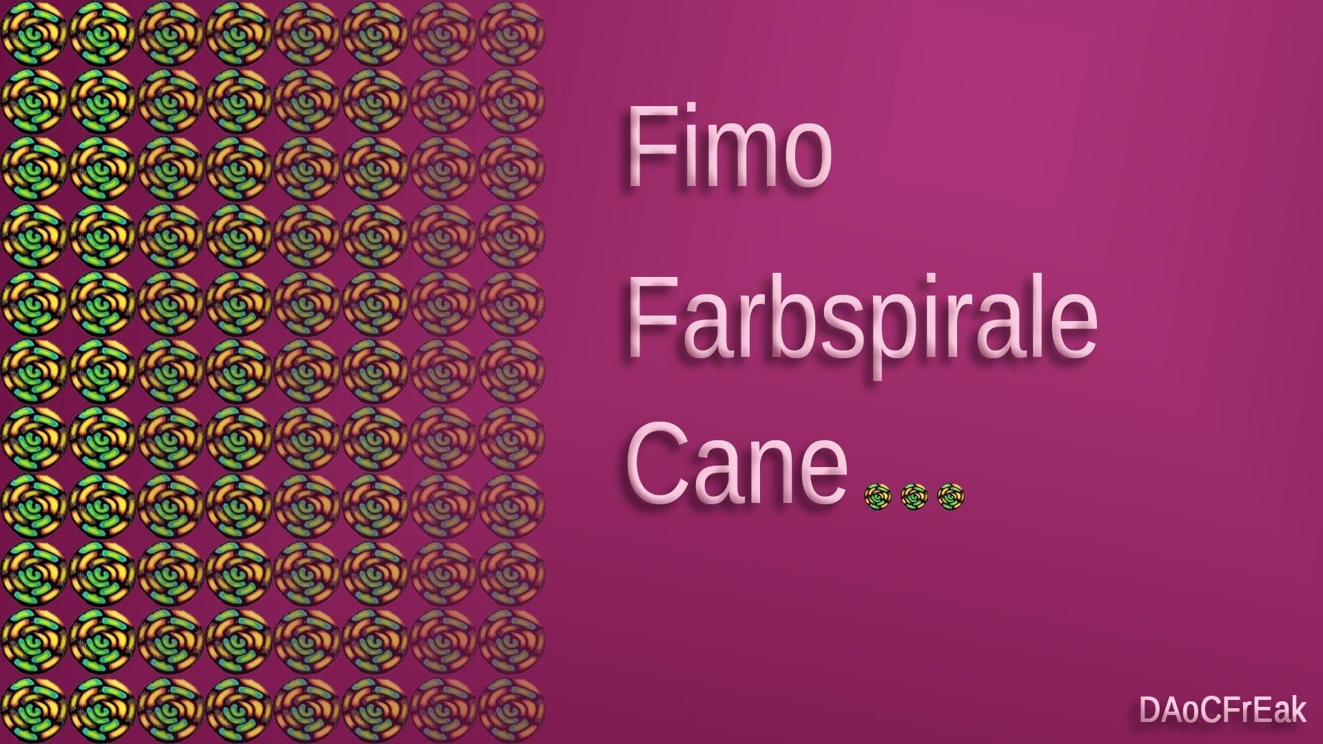 FIMO Cane Farbspirale: Polymer color spiral - Tutorial [HD.deutsch] (EN-Sub)