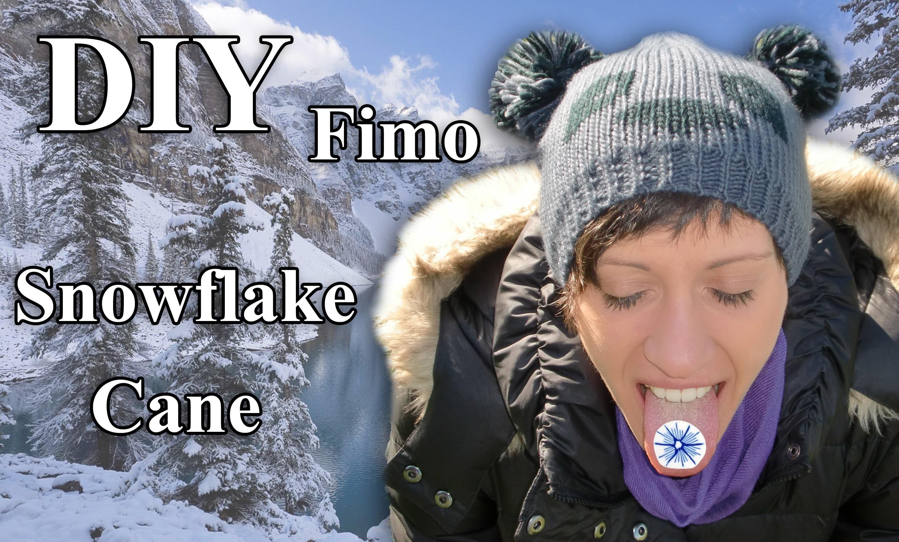 FIMO (Cane) Schneeflocke: Polymer Snowflake - Tutorial [HD.DE] (EN-Sub)
