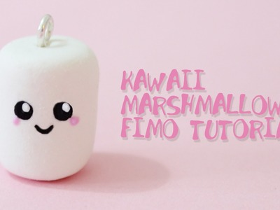 [Fimo Friday] Kawaii Marshmallow Fimo Tutorial. Kawaii Marshmallow polymer clay | Anielas Fimo