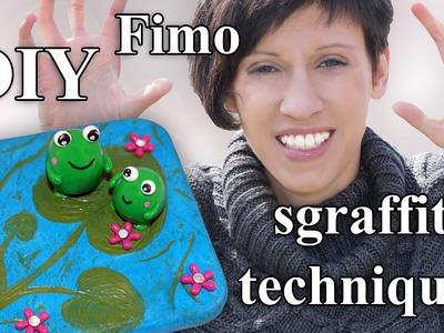 FIMO Sgraffito Froschteich: Polymer Clay Frog Pond - Tutorial [HD.DE] (EN-Sub)