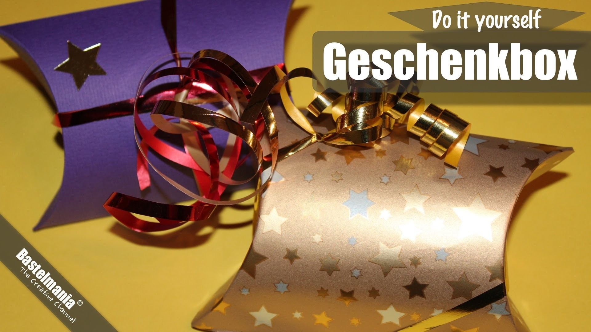 Geschenkverpackung Basteln. Gift Wrapping. Gift Box Craft