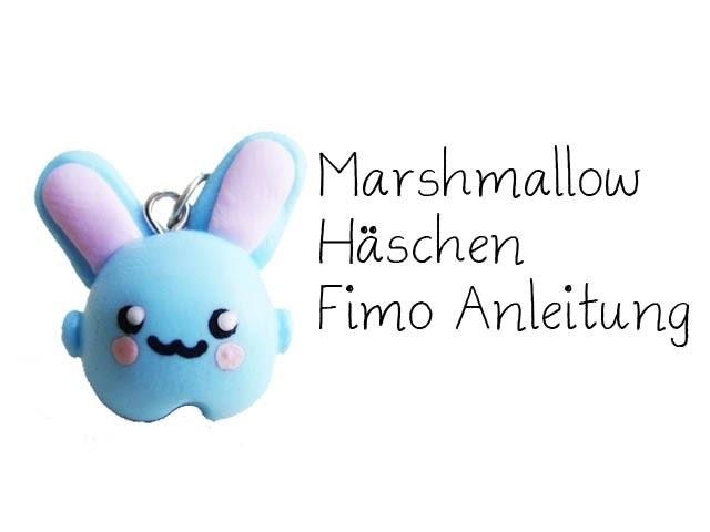Marshmallow Häschen Fimo Tutorial. Polymer Clay Marshmallow Bunny Tutorial