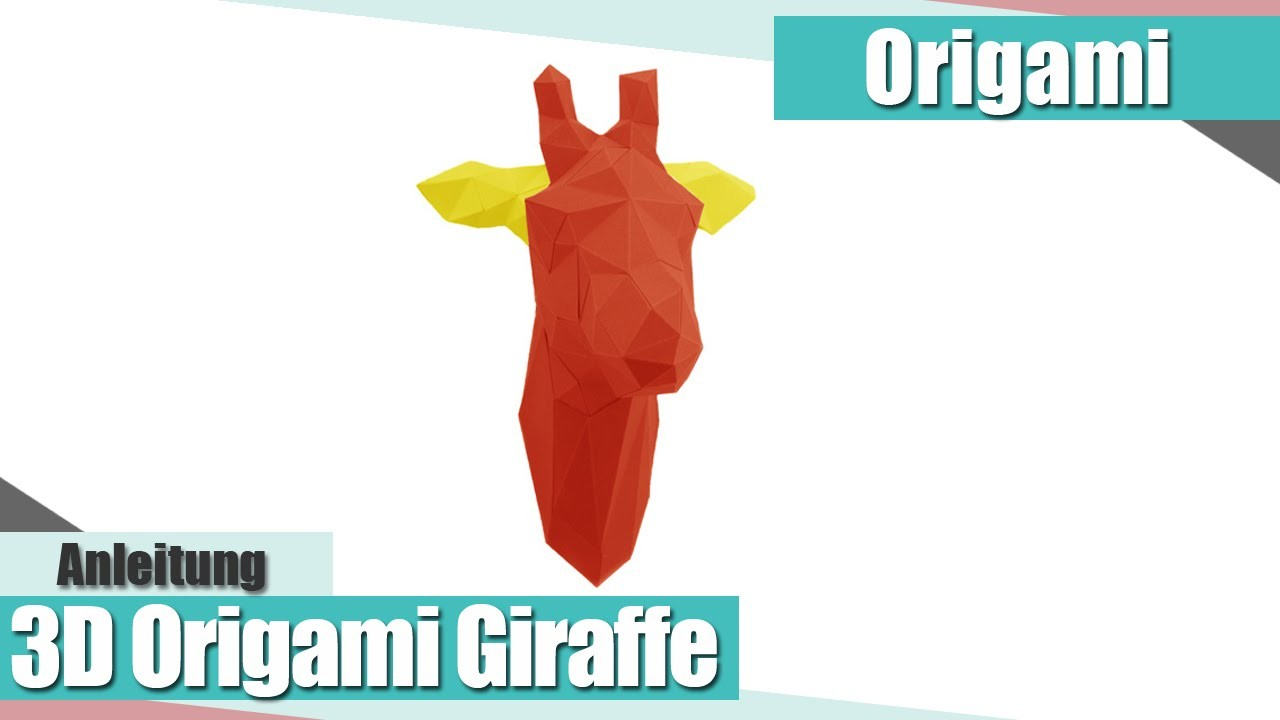 [Origami] 3D Giraffe Origami Anleitung | Interior & Deko | Anielas Fimo