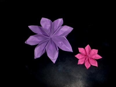 Origami Dahlie: Dahlia - Tutorial [HD]