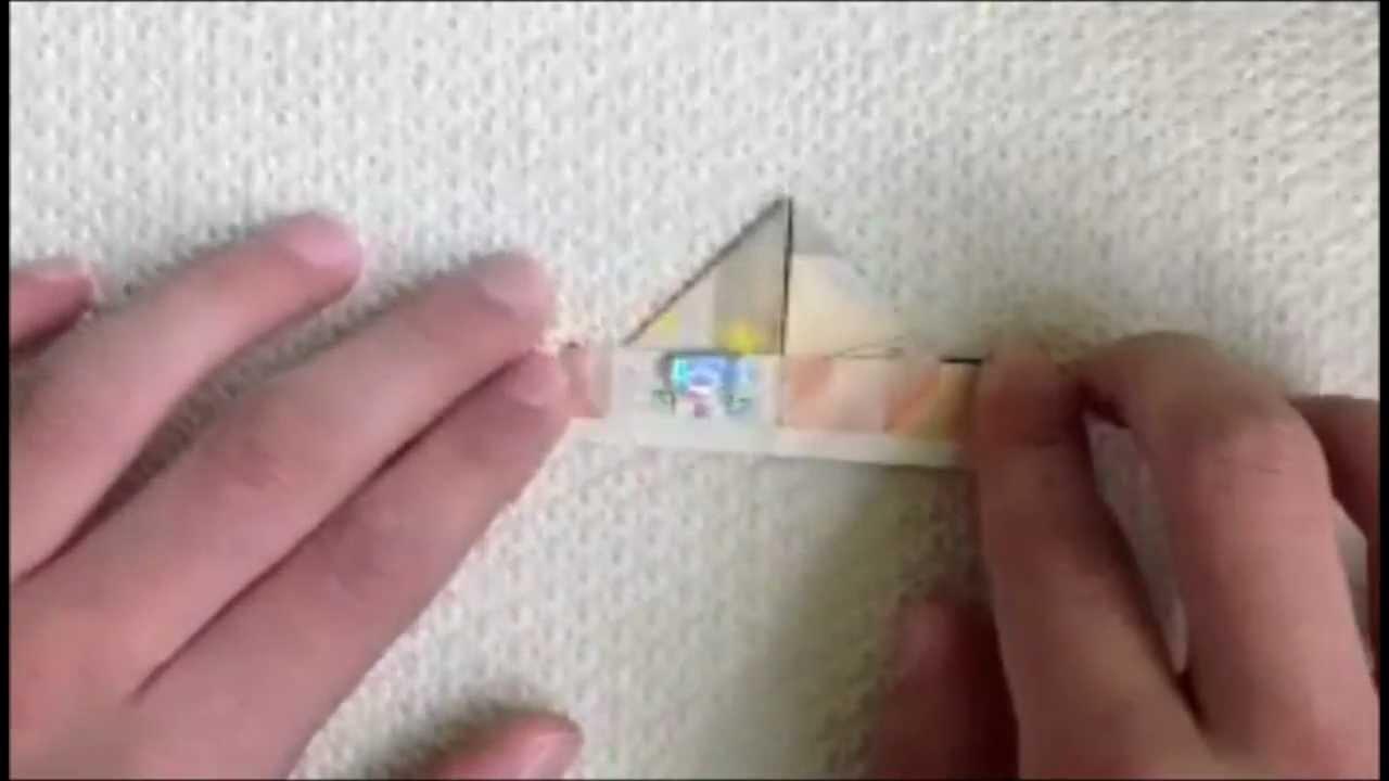 origami geld schiff basteln mit einem geldschein. Black Bedroom Furniture Sets. Home Design Ideas
