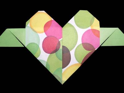 Origami Herz mit Amorpfeil - Faltanleitung [HD.DE] (Live erklärt)