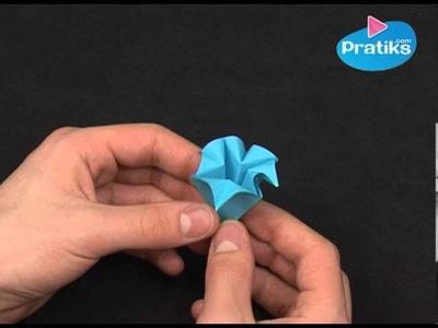 Origami - Wie macht man eine Papierblume Anfänger