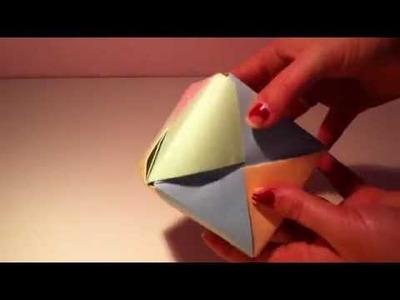 Origami Würfel selber machen - Faltanleitung Papier Würfel