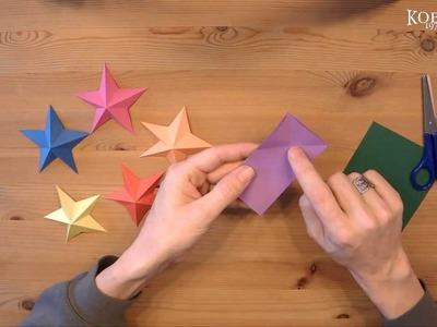 Pentagramtischkarte, Origami Stern Tisch Platzkarte, 3D Sterne