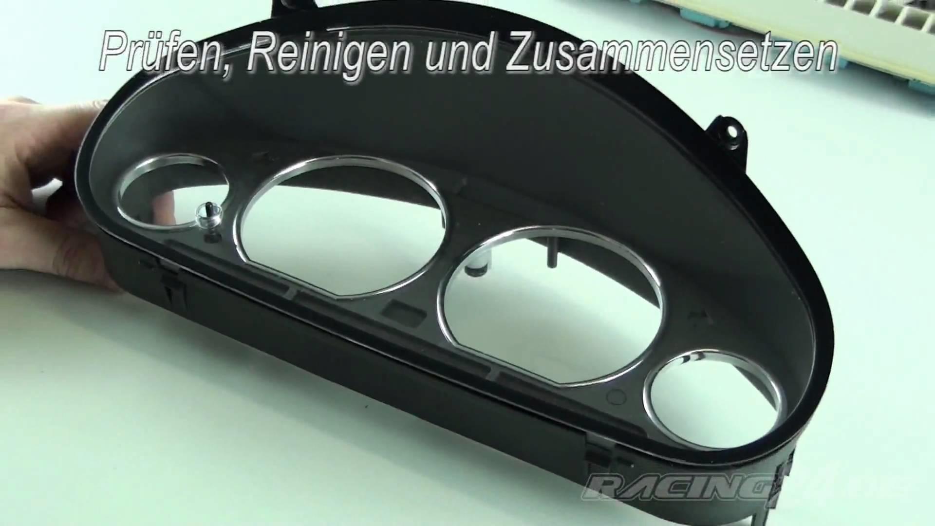 Tachoringe für 3er BMW E36 nachrüsten - DIY Video von RACING24