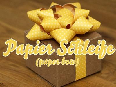 Tutorial - Papierschleife - paper bow