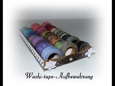 [Tutorial] Washi-tape Aufbewahrung