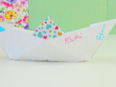 Wie falte ich ein Papier Schiff. Schiffchen? Origami DIY Papier Schiff. Paper Ship| deutsch