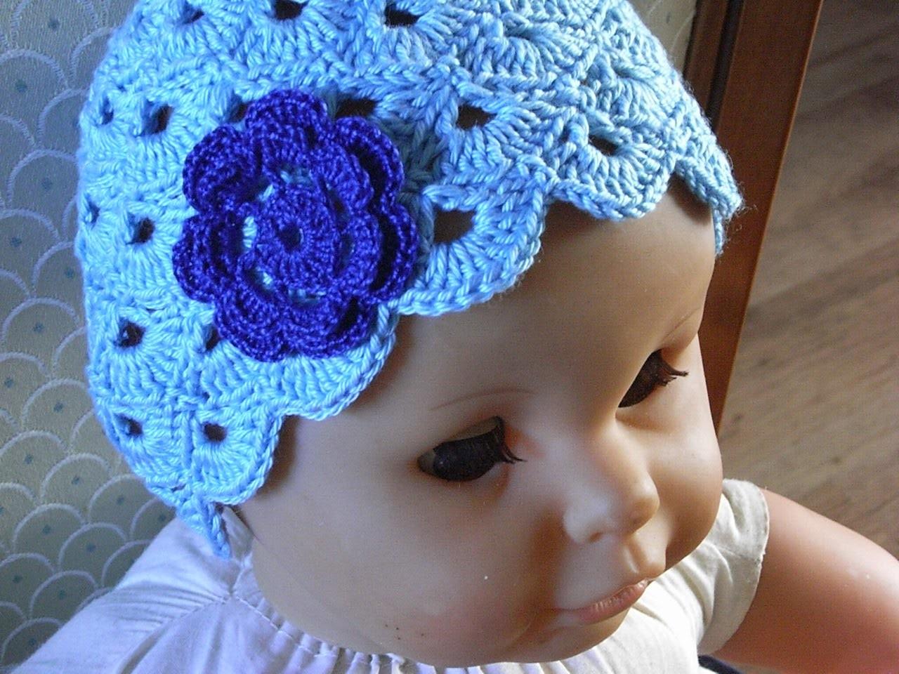 Baby Mütze Häkeln M Muscheln Muster Baby Hat Crochettutorial