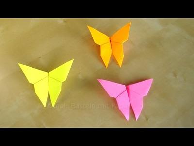 Basteln: Schmetterlinge falten - Origami Faltanleitung - Bastelanleitungen