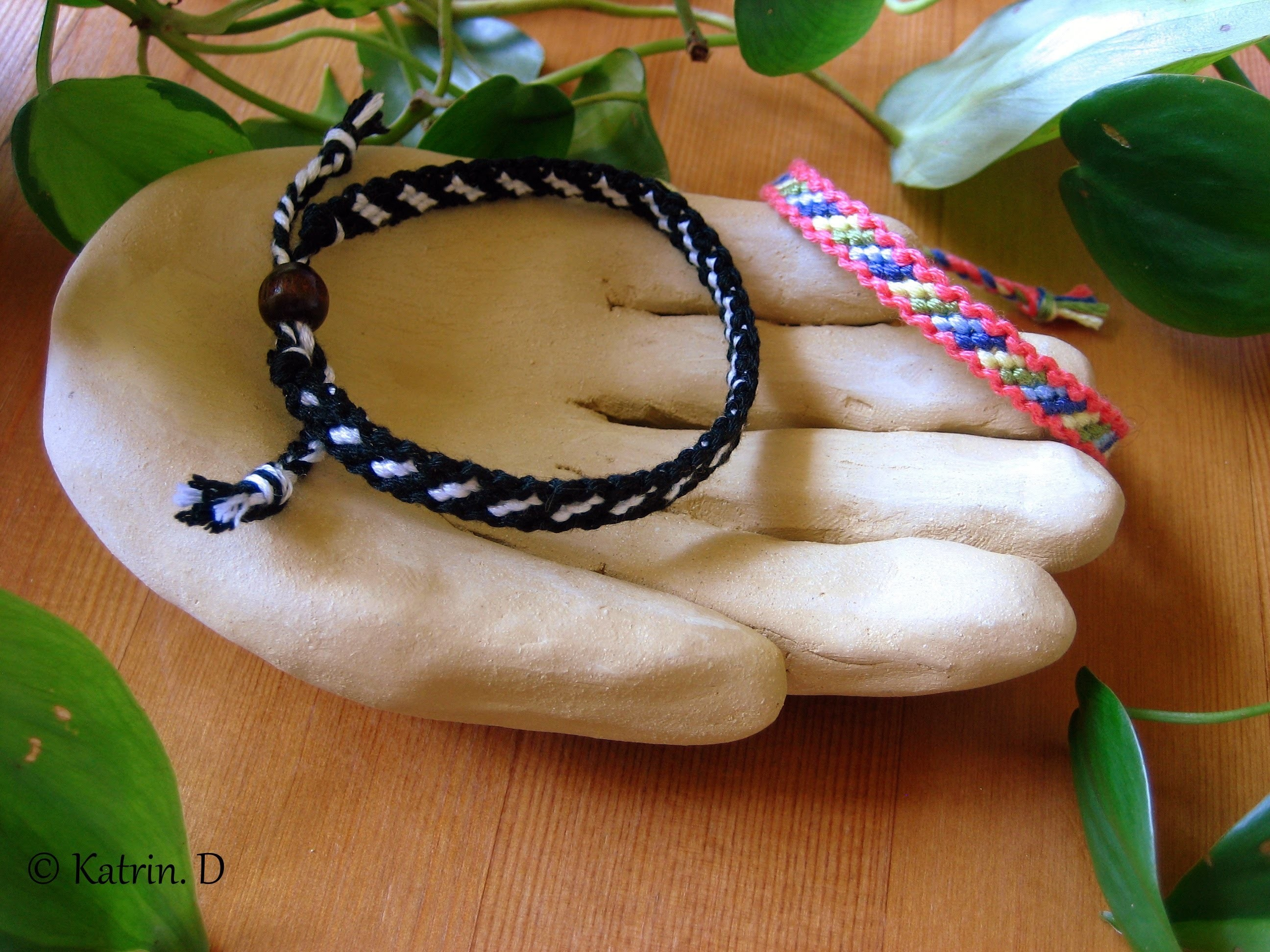 Bordered Candy Stripe Friendship Bracelet