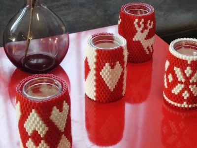 DIY Perlenkerze - Hama Beads Candle