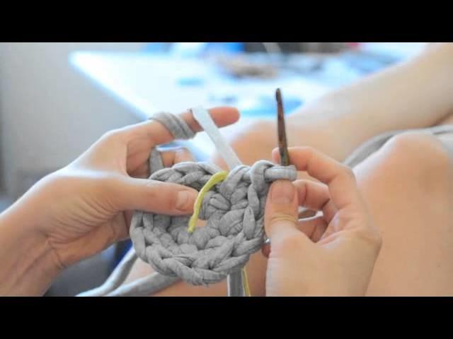 DIY Schale.Korb stricken und häkeln mit Zpagetti Teil 1