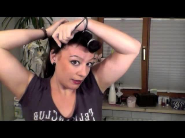 Hair-Tutorial für die Tinkerbell-Frisur, Dutt-Frisur