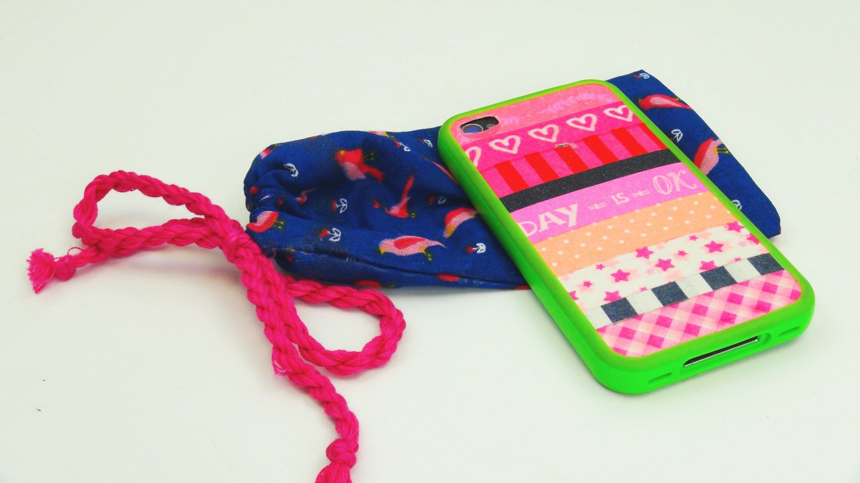 Handytasche DIY. Handyhülle. Handybeutel schnell selbst gemacht! Smartphone Bag Tutorial   deutsch