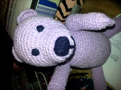 How to - Crochet a teddy - the making - head, arms, legs