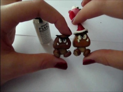Let's Craft Super Mario Goomba aus Fimo