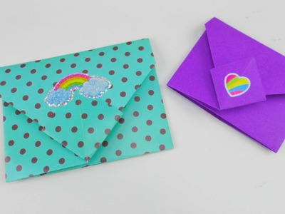 Origami Briefumschlag falten DIY. Bunte Briefchen falten ganz einfach Tutorial | deutsch