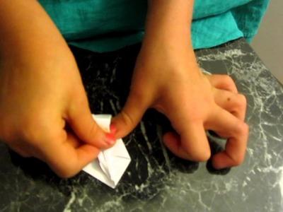 Origami kleiner Schwan