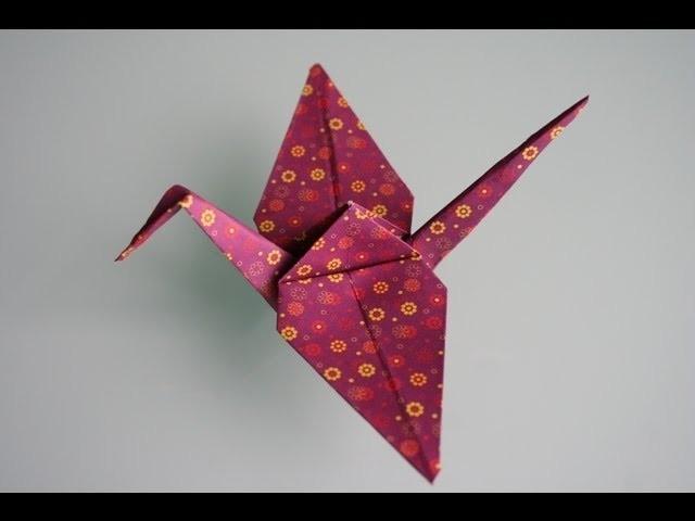 Origami Kranich crane