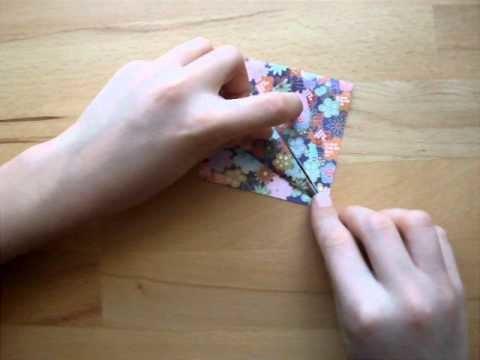 Origami mit Christian: Kranich (Teil1). crane part 1
