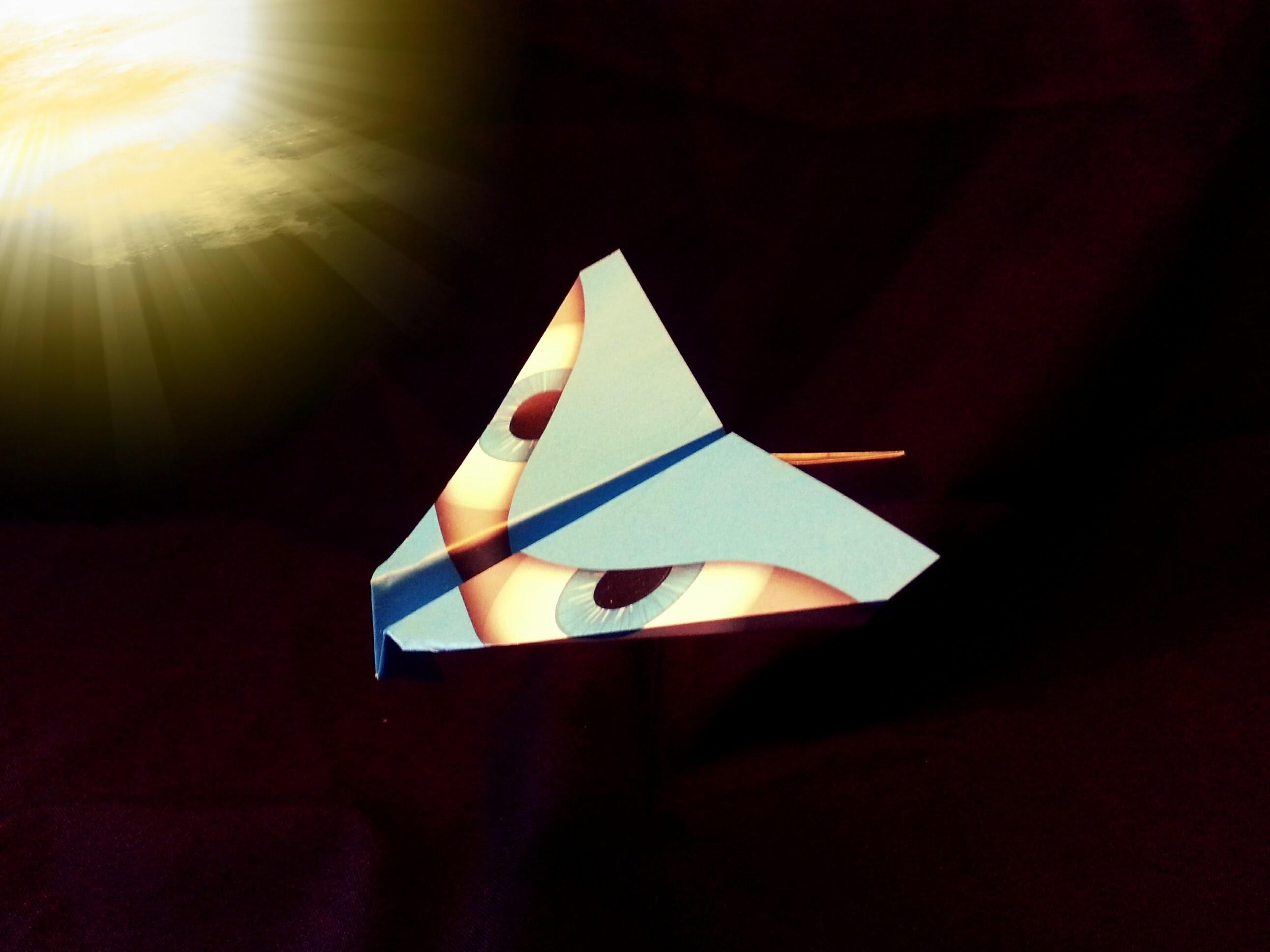 "Papierflieger ""Kolibri"" Origami Bauanleitung"