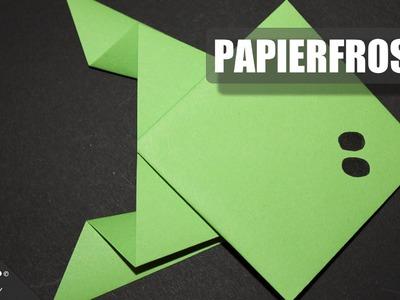 Papierfrosch. Paper Frog. Origami. Papierfrosch falten