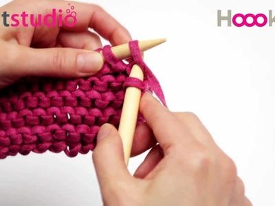 Rechtbreien. Knit Stitch. Rechte Maschen