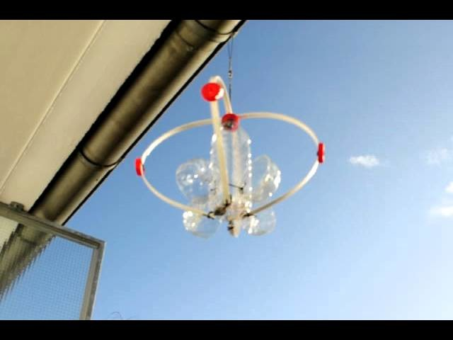 Rotating plastic bottle Whirligig Plastikflasche Recycling
