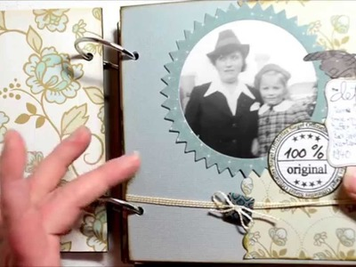 Scrapbook Mini Album  [vintage,Foto,Album,selbst gemacht,basteln mit Papier,Deutsch]