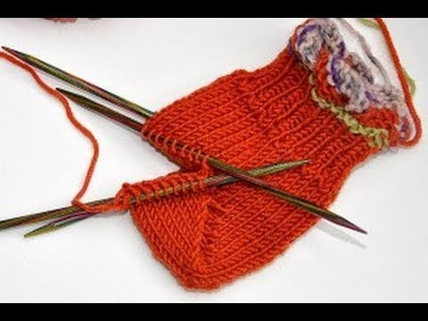 Socken stricken * Sockenkurs #8 * Bumerangferse Standardmethode Jojoferse