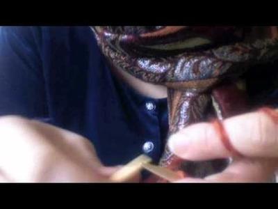 Strickanleitung für eine schöne Außenkante - knitting tutorial for a nice edging