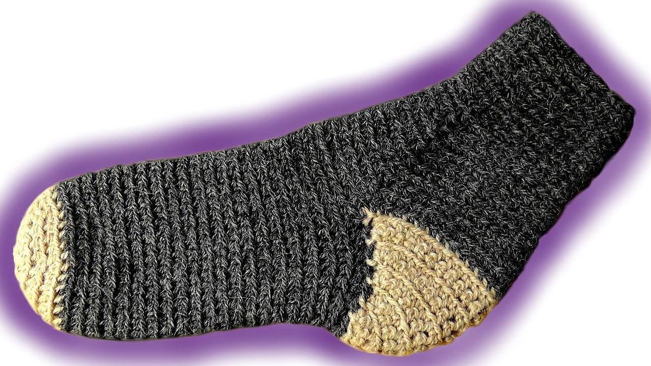Toe Up Socken häkeln lernen [Fortgeschrittene] Linkshänder