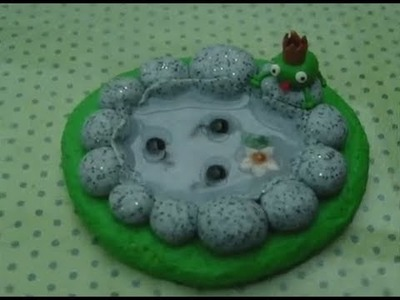 [Tutorial] Frog Pond (Polymer Clay.Fimo)