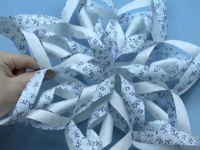 Weihnachtsstern basteln - einfaches Last-Minute-Geschenk (paper star)