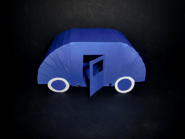 Wohnwagen aus Papier: Camper Paper-ART - Tutorial [HD.deutsch]