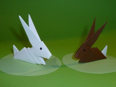 3D Origami Osterhase Tutorial (Deutsch)