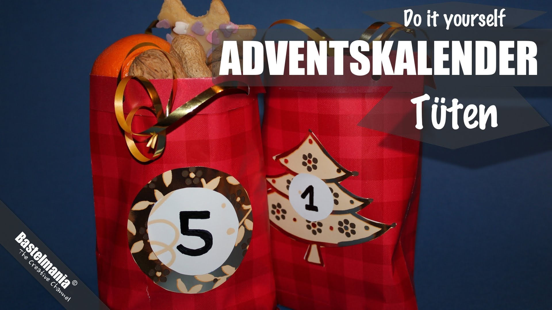 Adventskalender Tüten Basteln. Advent Bags Crafts