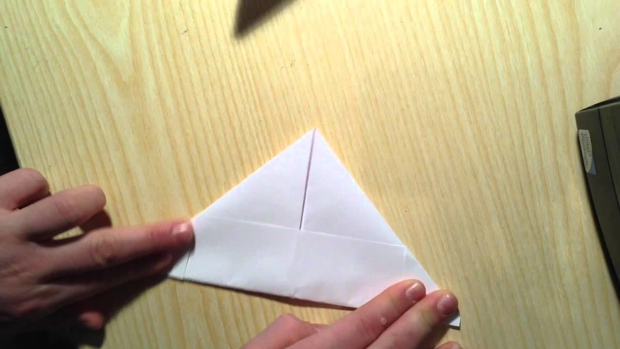 Boot origami - Bastelanleitung