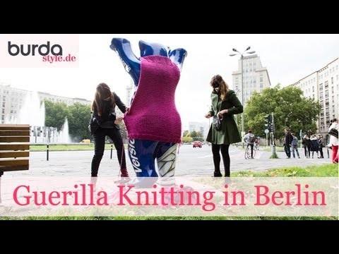 Burda style – Urban Guerilla Knitting in Berlin