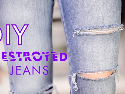 DIY Destroyed Jeans ♥ Do-It-Yourself Tutorial ♥ How To Wear STYLIGHT