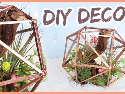DIY Geometric Globe Planter