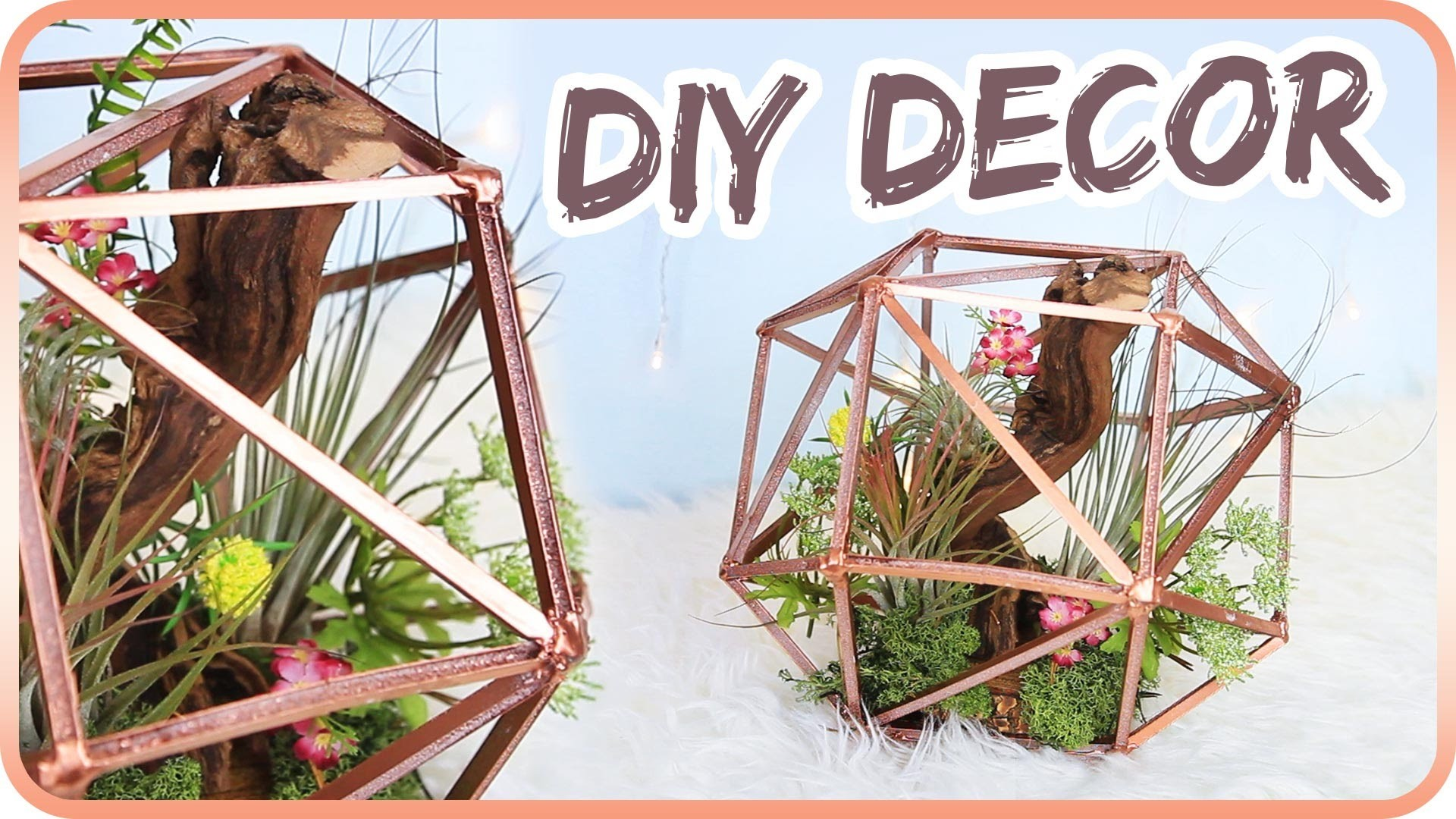 diy geometric globe planter. Black Bedroom Furniture Sets. Home Design Ideas